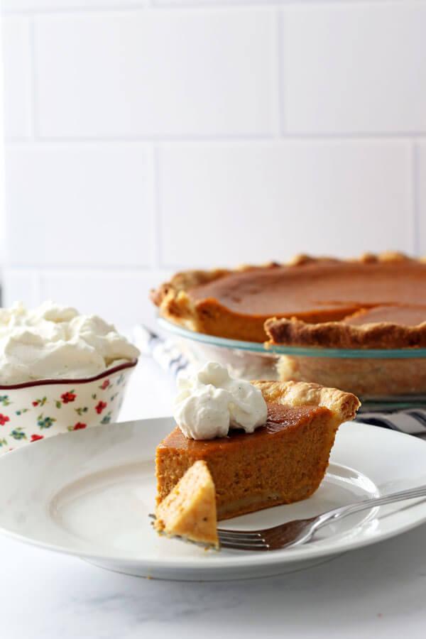 Maple Bourbon Pumpkin Pie