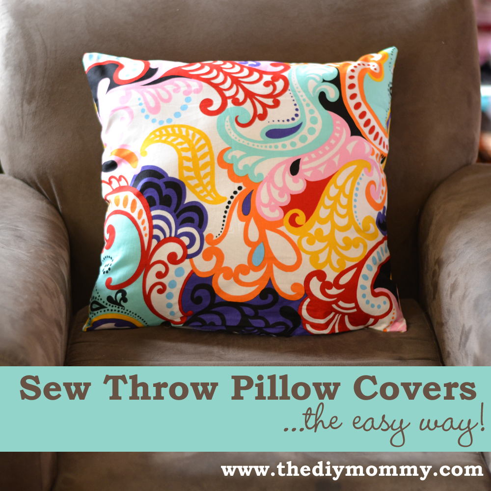 sew a throw pillow cover the easy way