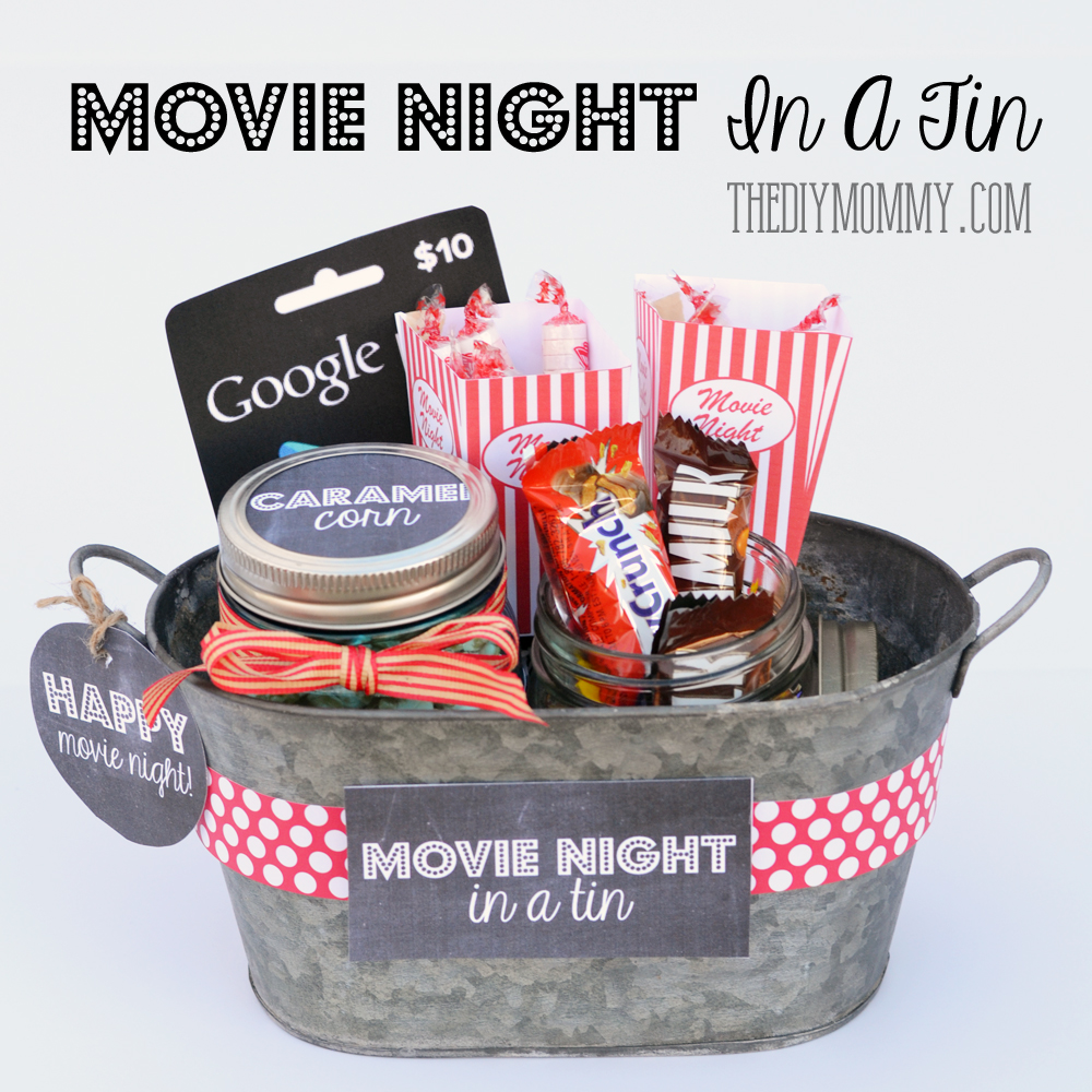 A Gift In A Tin Movie Night In A Tin