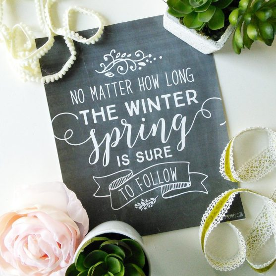 No Matter How Long the Winter Spring Is Sure to Follow | The DIY Mommy