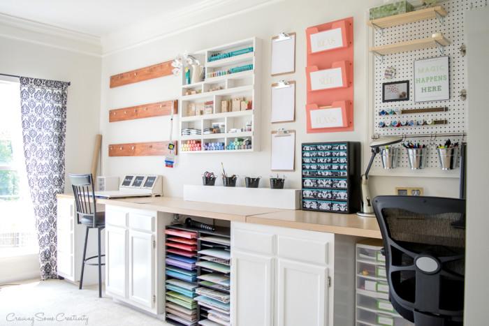 Craft Room Makeover+ The Creative Corner #62: DIY, Craft