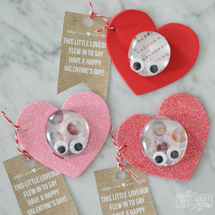 Love Bug Valentine Kids Craft Video The DIY Mommy
