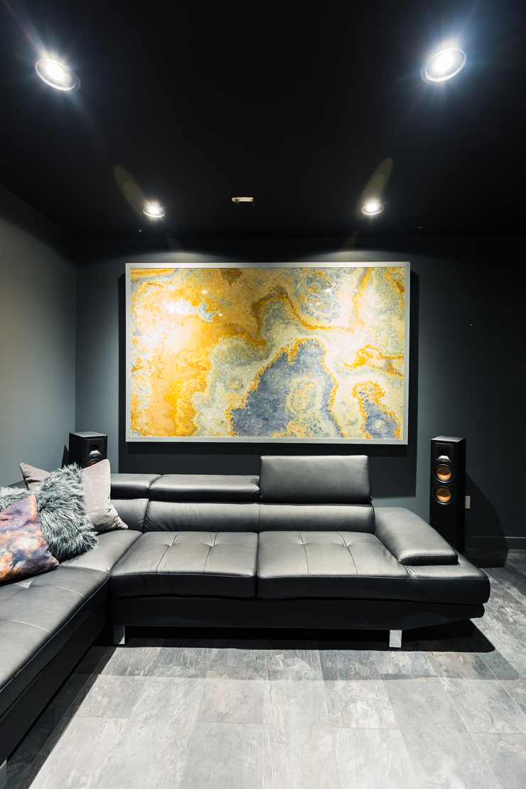 Our Ultra Modern Theater Room Man Cave Reveal