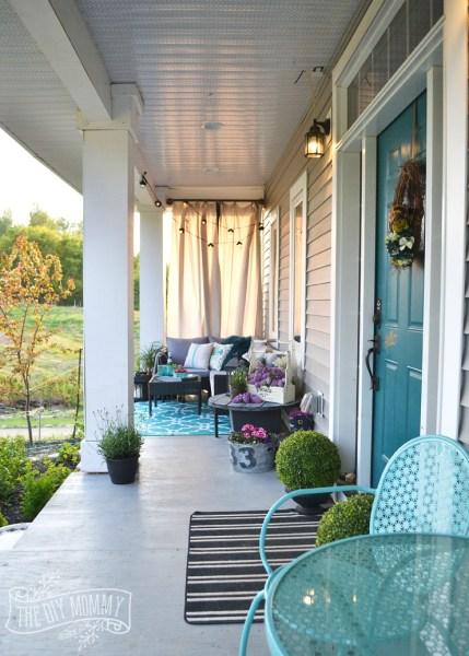 outdoor patio decorating ideas Country Farmhouse Porch Decor Ideas (with a Boho Twist