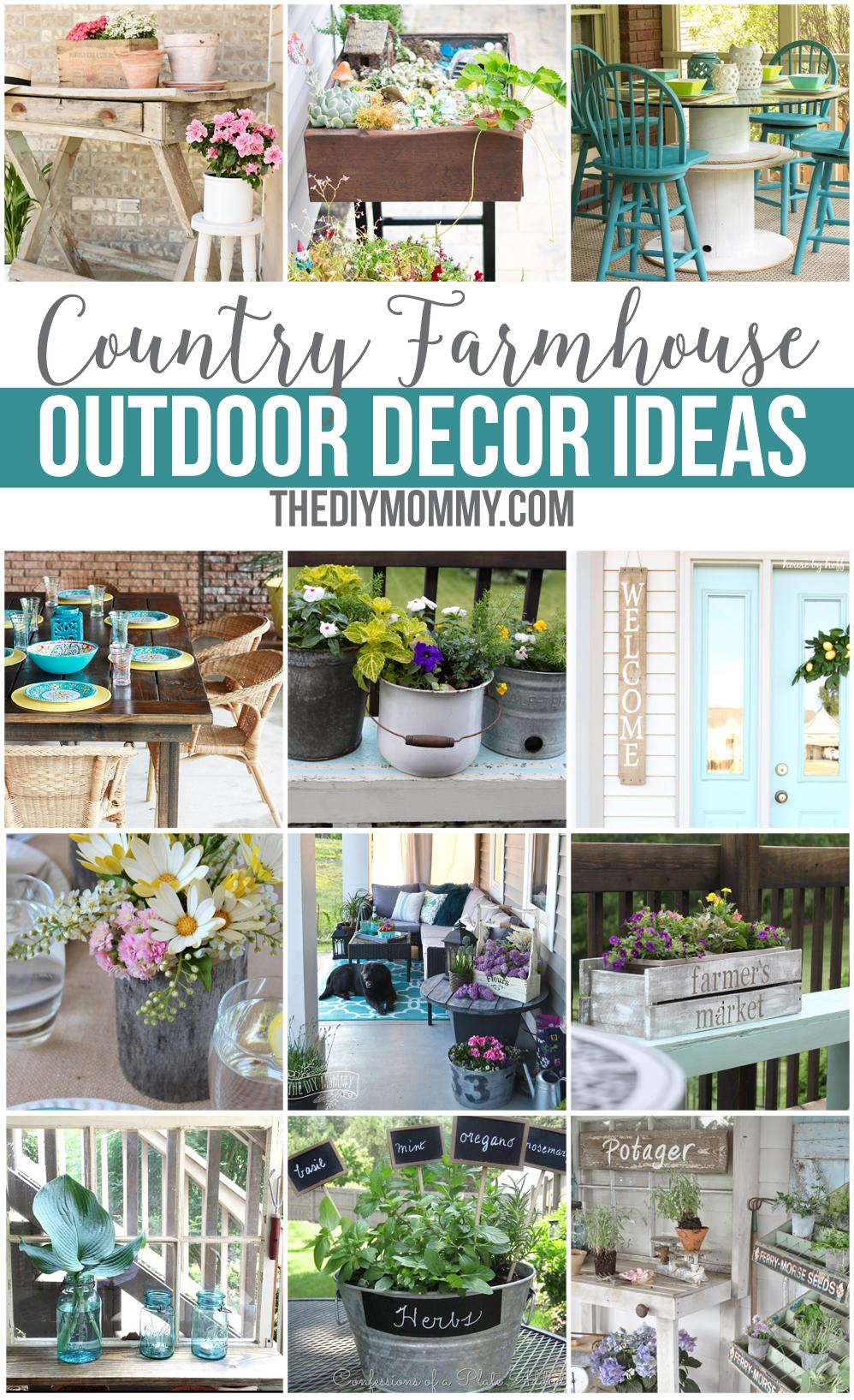 12 Gorgeous Country Farmhouse Outdoor Décor Ideas | The ... on Backyard Design Ideas Diy id=83860