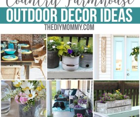12 Gorgeous Country Farmhouse Outdoor Decor Ideas The Diy Mommy