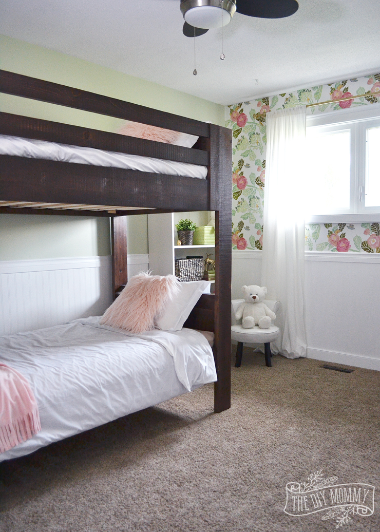 A Rustic Glam Double Kids Bedroom Reveal The Diy Mommy