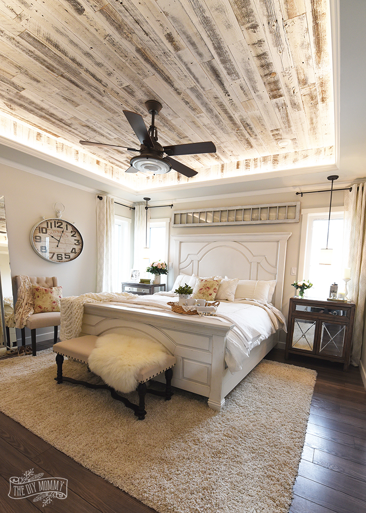 Our Modern French Country Master Bedroom - One Room ... on Master Bedroom Farmhouse Bedroom Images  id=65973