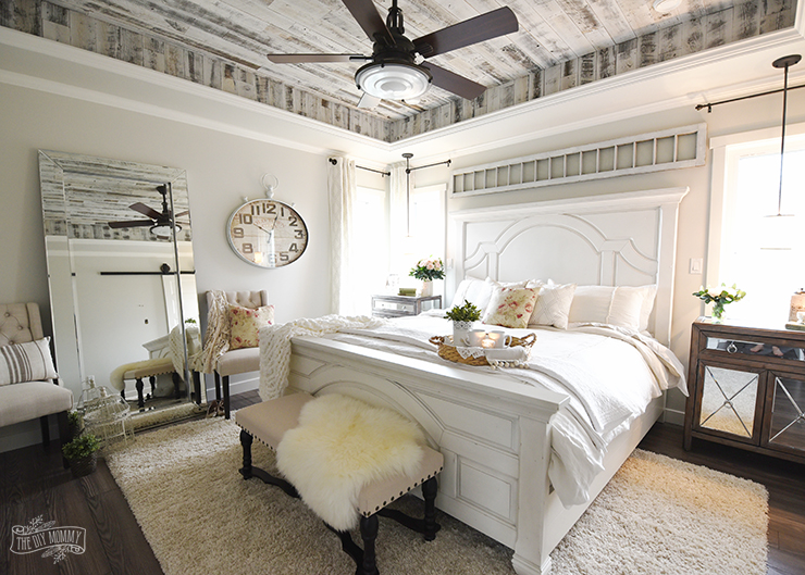 Our Modern French Country Master Bedroom - One Room ... on Master Bedroom Farmhouse Bedroom Images  id=99451