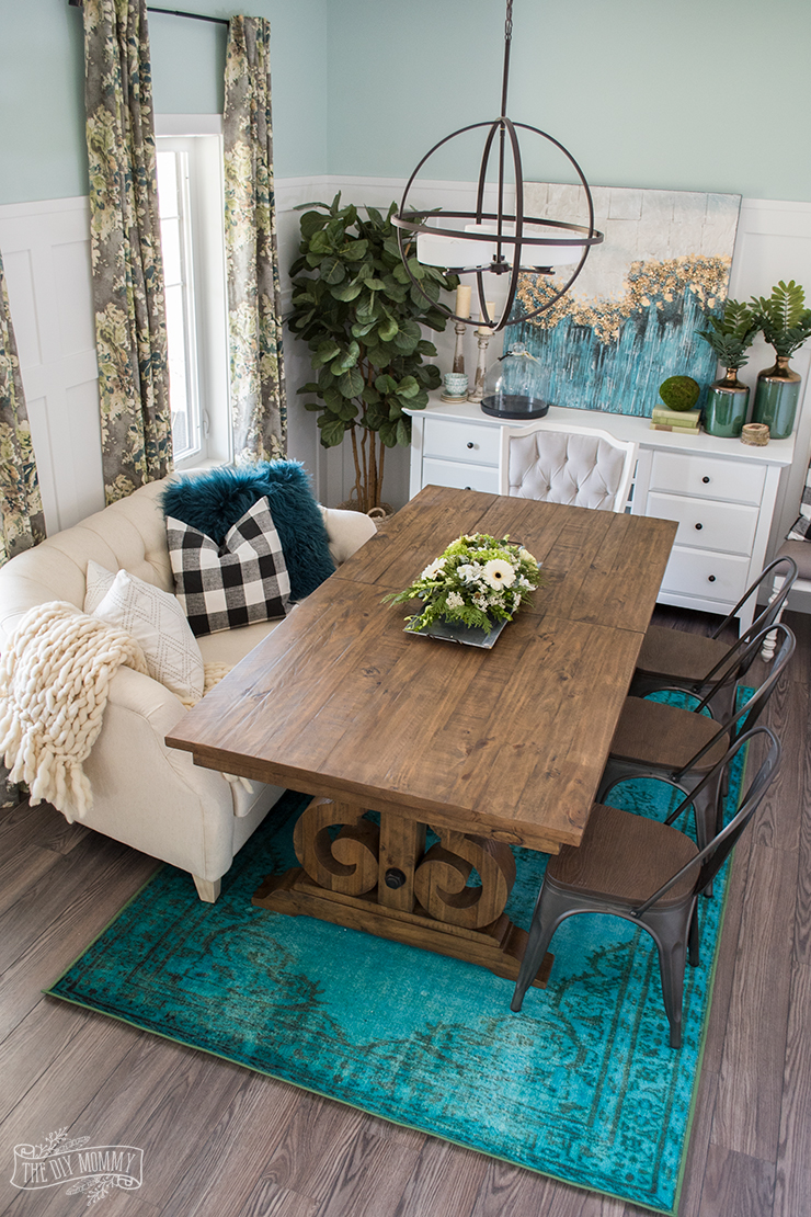A Boho Farmhouse Dining Room Reveal One Room Challenge Week 6 The DIY Mommy