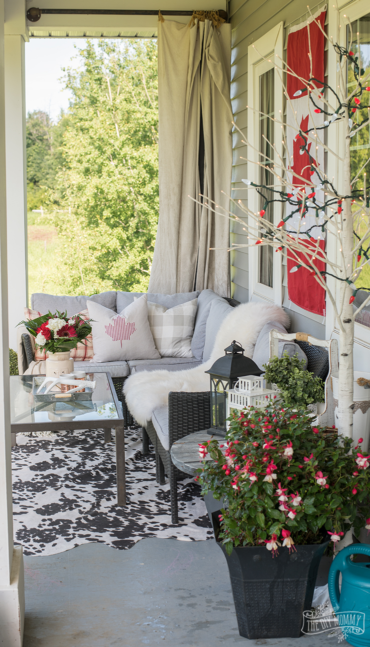 Our Canada Day Porch: Happy 150th Birthday, Canada! | The ... on Backyard Decor Canada id=45012