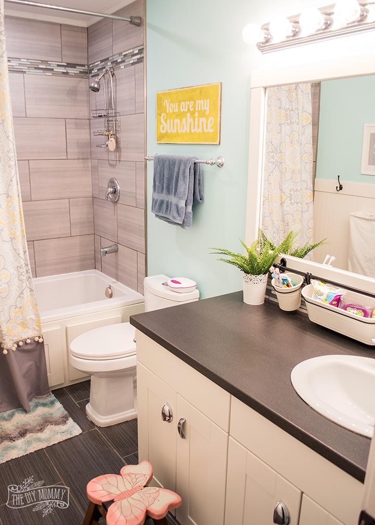 Kids Bathroom Organization Ideas + Free Printable Bathroom Art on Fun Bathroom Ideas  id=53442