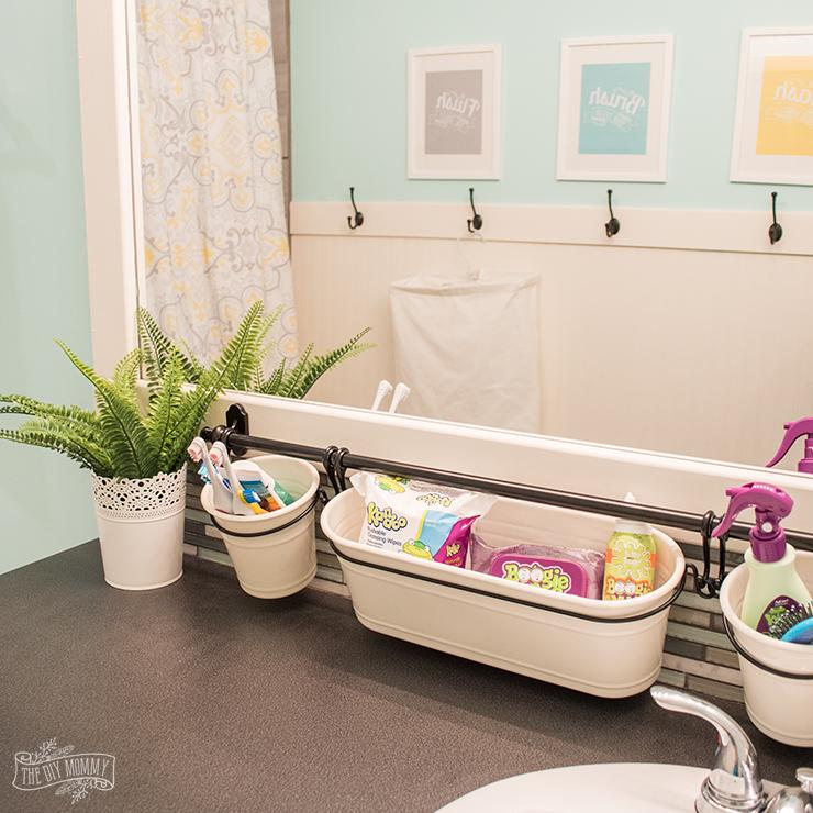 Kids Bathroom Organization Ideas + Free Printable Bathroom ... on Fun Bathroom Ideas  id=63923