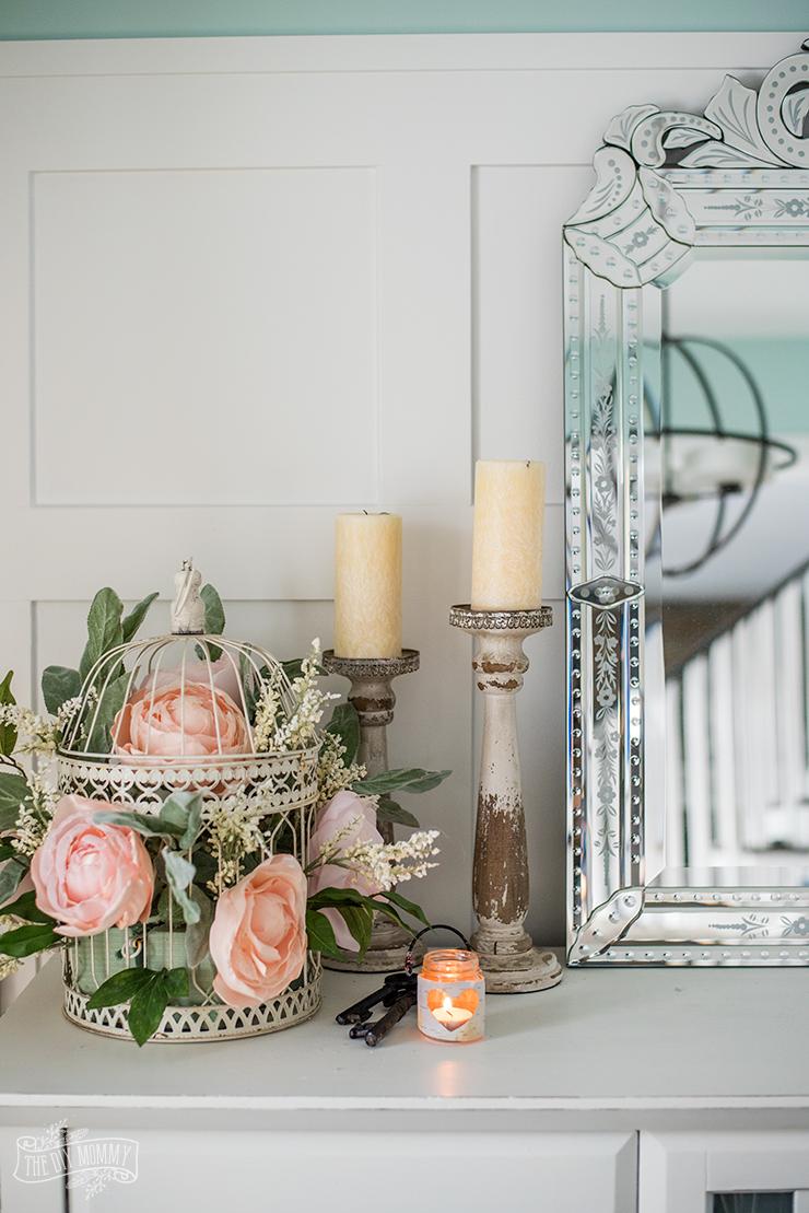 A Simple Spring Wreath + More DIY Rustic Romantic Decor ...