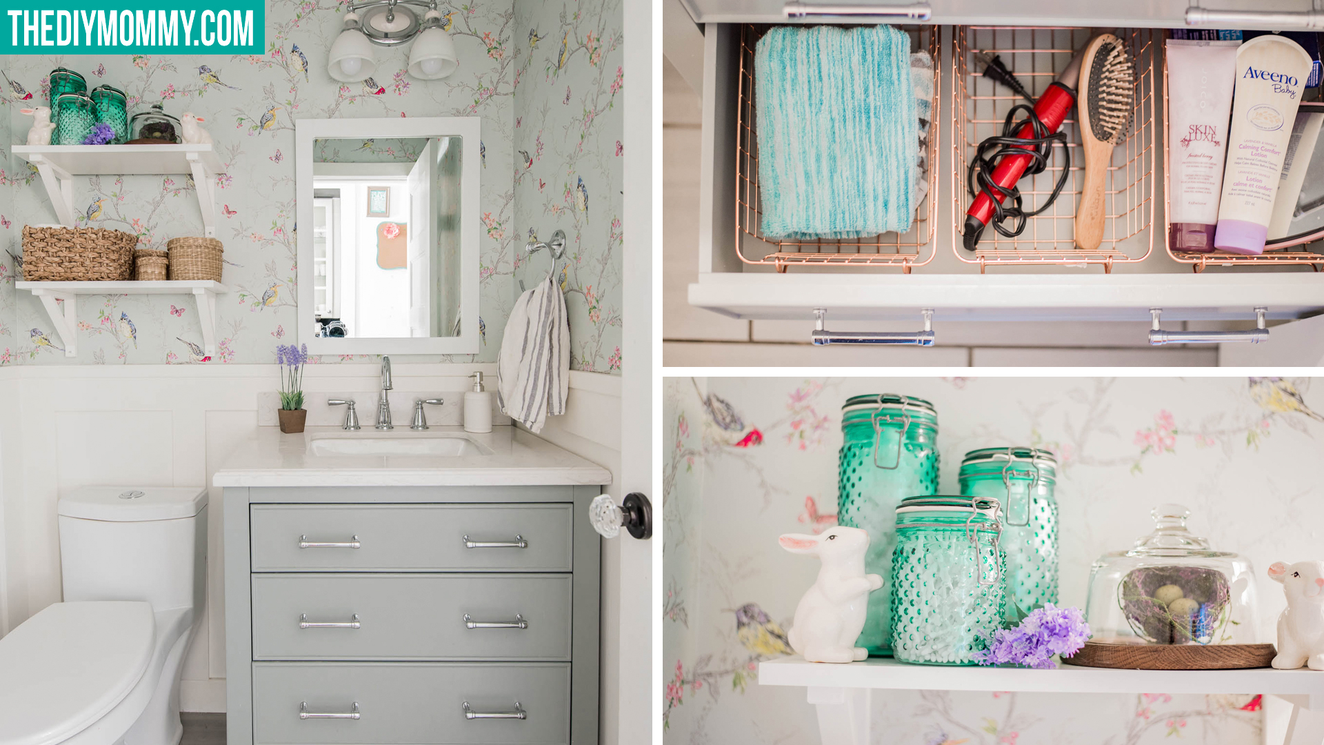 Small Bathroom Organization & Decor Ideas (from the Dollar ... on Small Apartment Bathroom Storage Ideas  id=60707