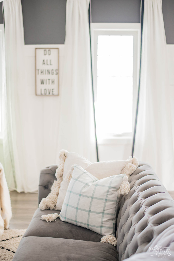 sew a tassel pillow cover the diy mommy