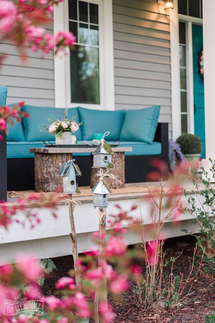 Rustic Birdhouse Garden DIY Decor (from the Dollar Store ... on Diy Garden Decor  id=59439