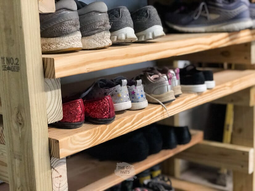 how to make a diy wooden shoe organizer