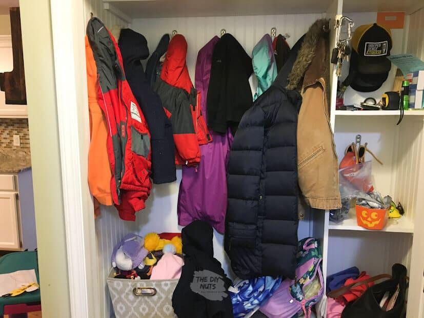 double wall mounted diy coat rack