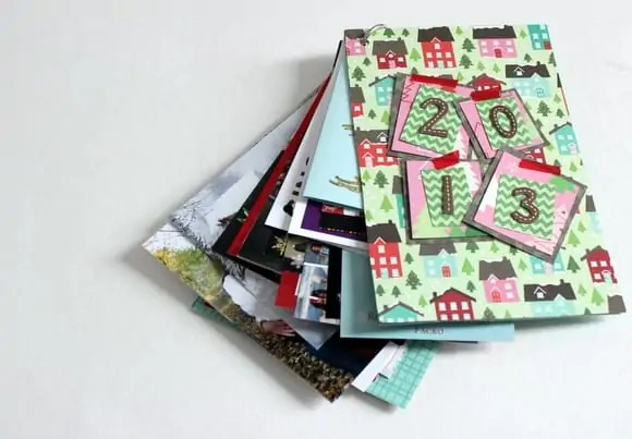 Christmas Card Storage