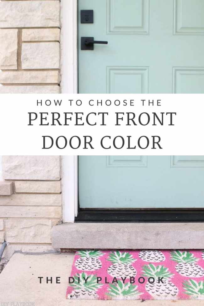 Choosing the perfect front door color
