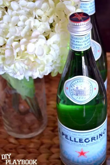pellegrino and hydrangeas