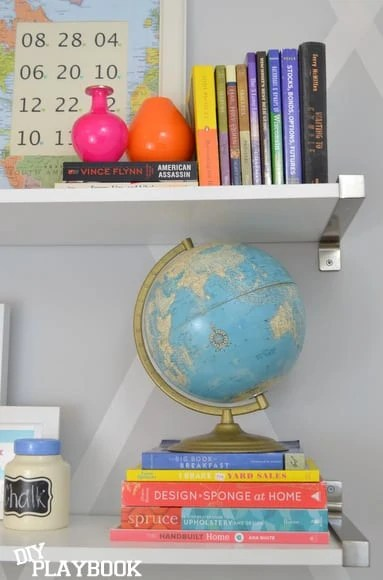 globe on top of books