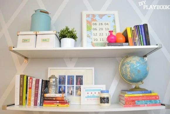 2 long ikea shelves