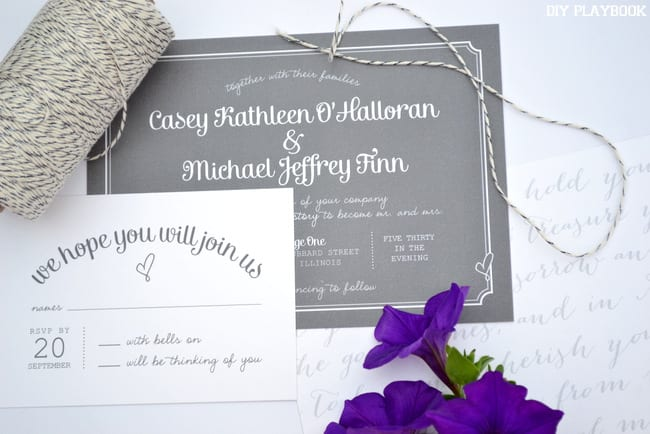 Gray-Wedding-Invites