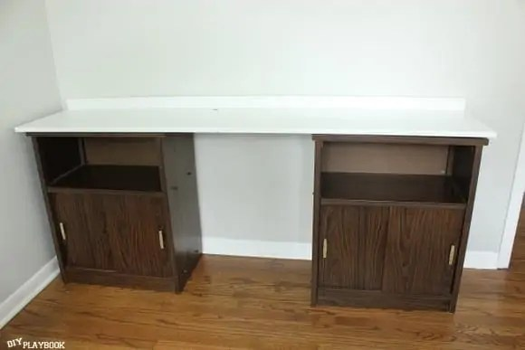 DIY Desk in Progress