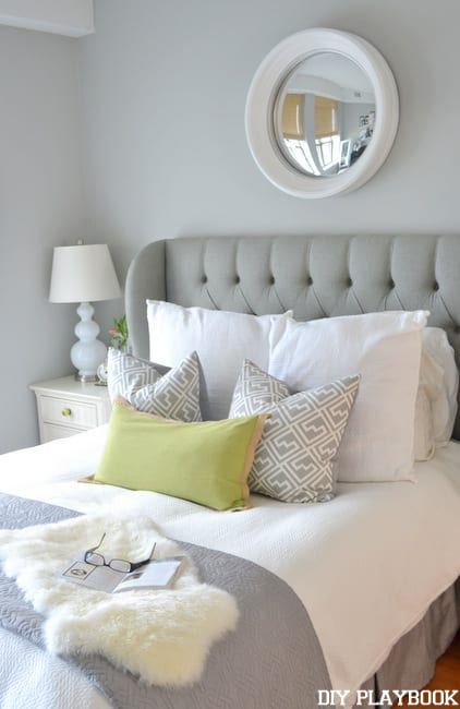 Headboard-and-mirror