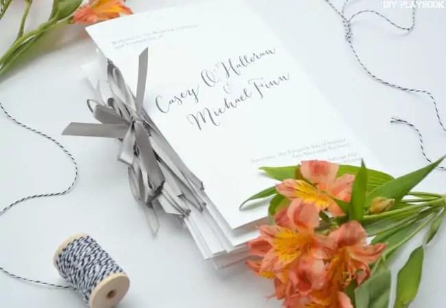 Stack-of-Wedding-Programs