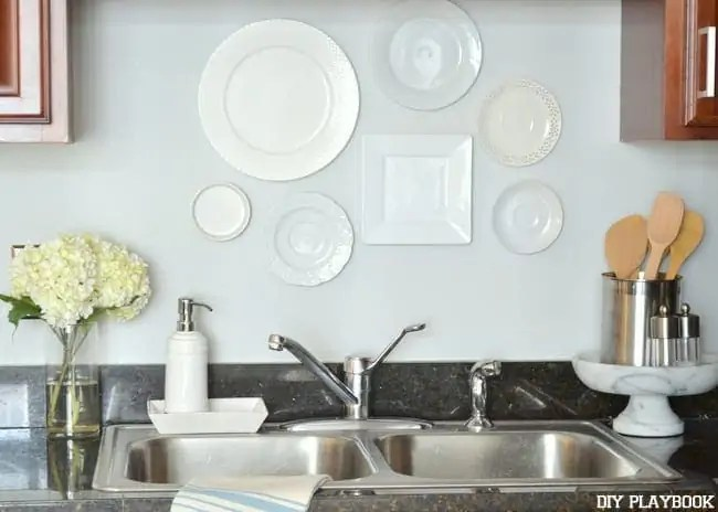 Sink-Area-White-Plates