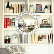 christmas mirror porthole built in