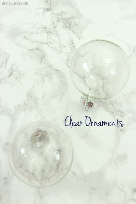 clear ornaments