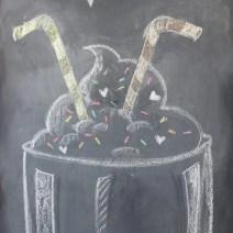 chalkboard milkshake