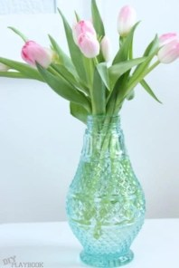 tulips flower vase