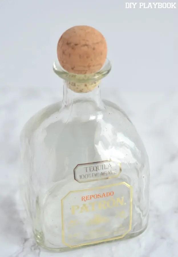 Empty-patron-bottle