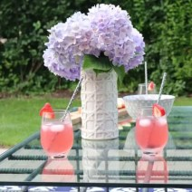 hydrangea patio backyard lemonade