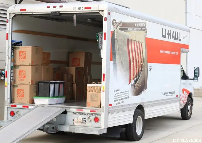 Uhaul with Boxes