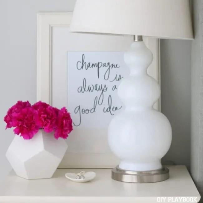 01-champagne-is-always-a-good-idea-print-frame-lulu and georgia