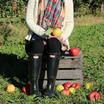 bridget fall apple orchard hunter boots