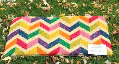 fall doormat before