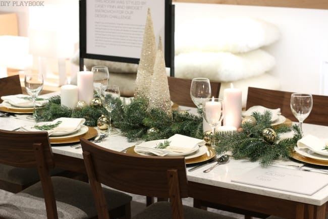 Room and board holiday table