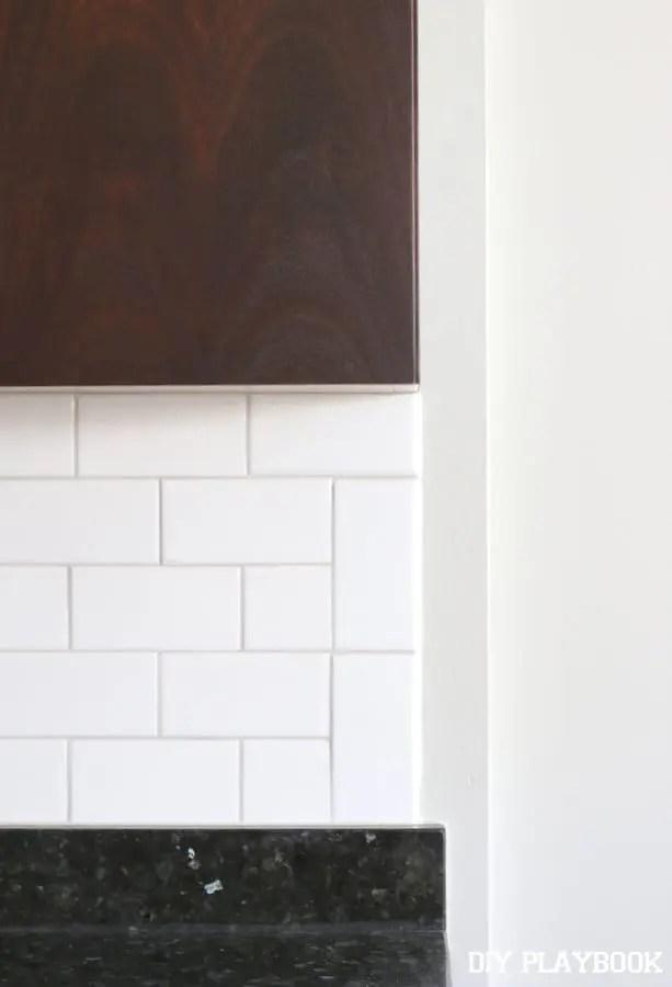 white subway tile backsplash for the