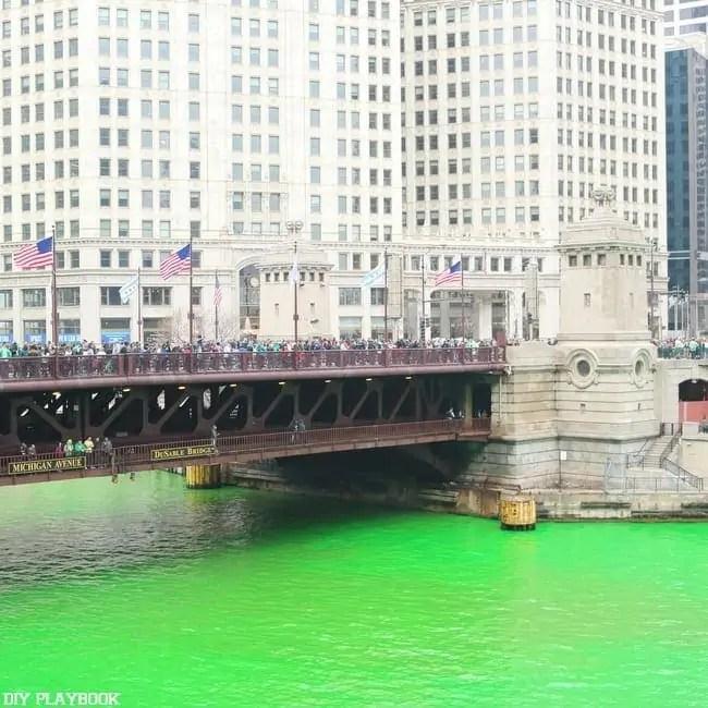 Chicago River Green St. Patricks Day