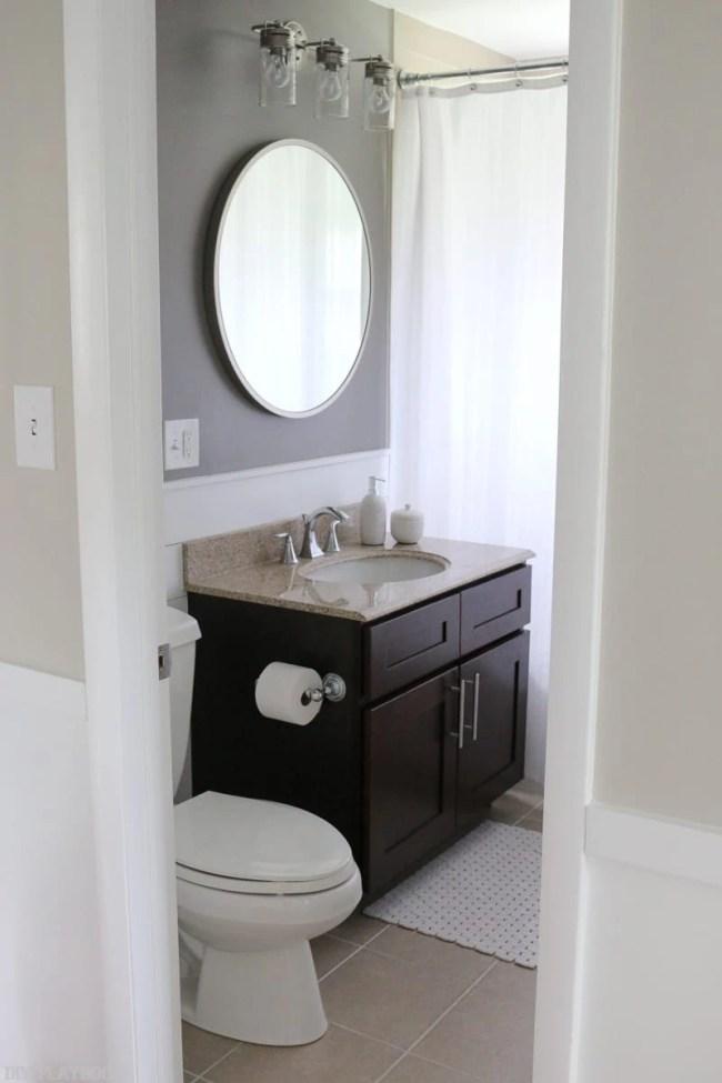 New Bathroom Lighting Bold Paint Heart Eyes Diy Playbook