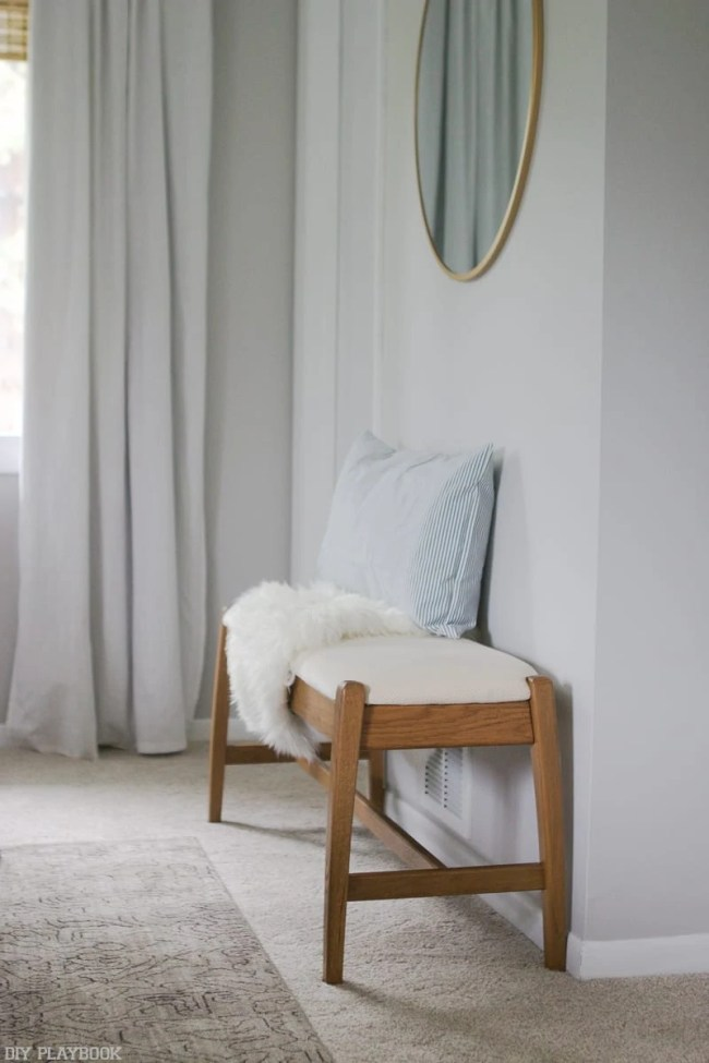 lowes-makeover-bedroom-reveal-bench-pillow-sheepskin