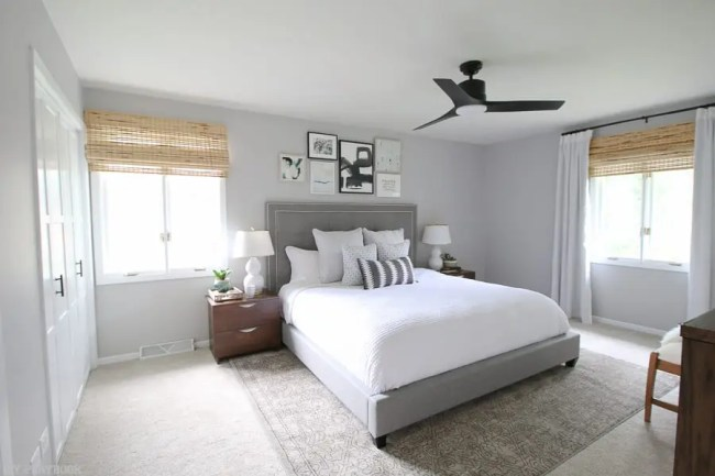 neutral bedroom reveal with lowe 39 s home improvement