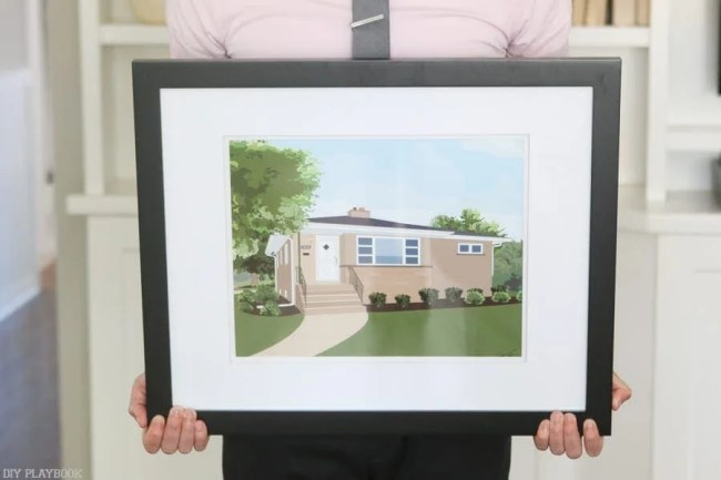 nicks-custom-house-art-framed